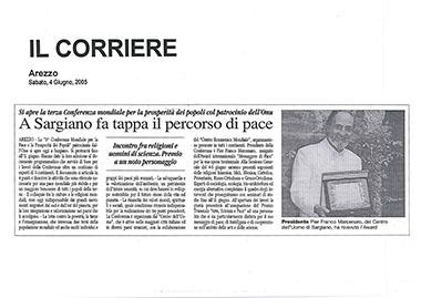 Il Corriere di Arezzo, 4 Giugno 2005