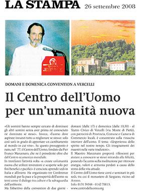 La Stampa, 26 Settembre 2008