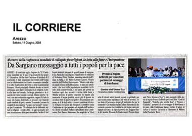 Corriere di Arezzo, 11 Giugno 2005