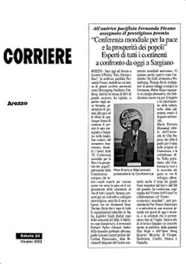 Il Corriere di Arezzo, 29 Giugno 2002