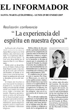 El Informador, 29 Gennaio 2007