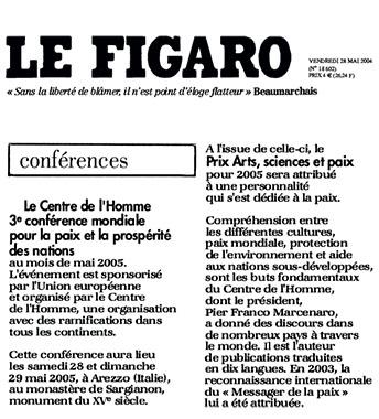 Le Figaro, 28 Maggio 2004