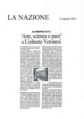 La Nazione, 2 Agosto 2012