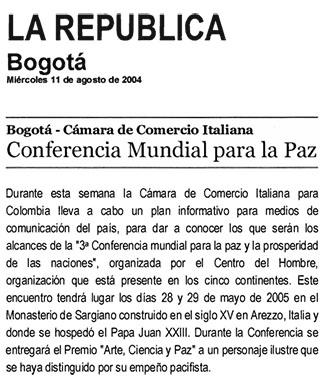 La Republica, 11 Agosto 2004