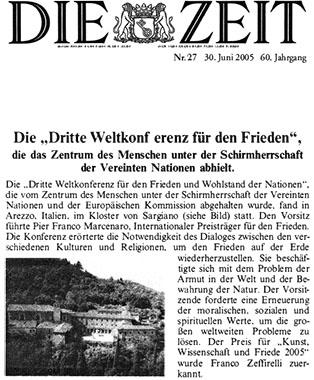 Die Zeit, 30 Giugno 2005